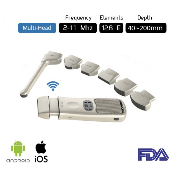 Máy quét siêu âm nhiều đầu Máy siêu âm bỏ túi không dây MH1